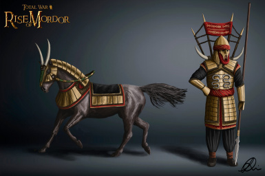 The first of a few horse-armours for our glorious Serpent Guard - Concept by Maeron