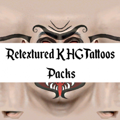 Retextured KHG Tattoo Packs