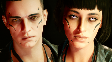 Custom complexion with cyberware (Male and Female)