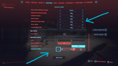 Unlock Global Illumination Settings with (Increased FOV - Mouse sensitivity - Zoom sensitivity - Resolution scale limit) Better Controls Mod Compitable