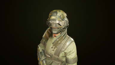 Headset and Collar Combo (Helmet from optional file)