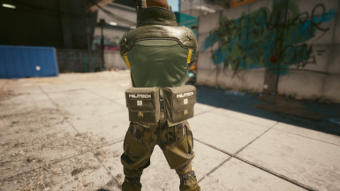Pants Configuration with Dual Large Pouch