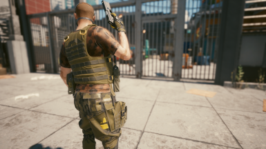 Green Armor Vest with Front Radio Only. No Belt Boot Option