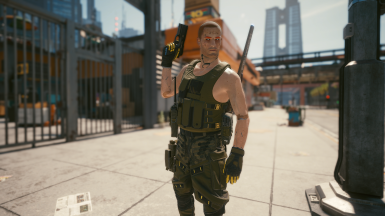 Green Armor Vest with Radio Pack