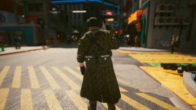 Trench Coat with Optional File Pants Configuration (dual side pouch)
