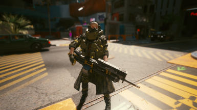 Extra Large HTV (Head slot) and Enforcer Trench Coat (Outer Torso
