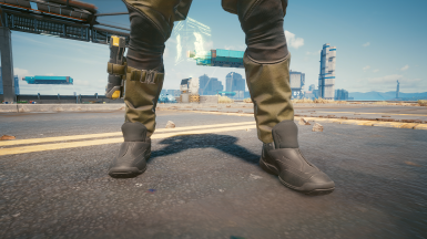 Clipping fixed on Black Tactical Shoes ONLY! (Militech textures will still have clipping)