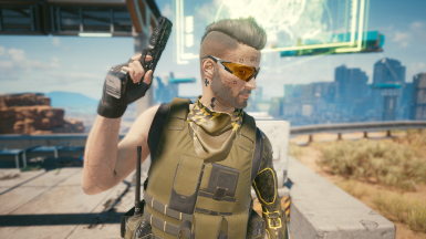 Scarf Camo 3 (With glasses)