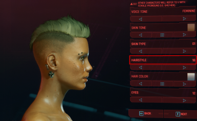 Female Undercut Mohawk Replaces hair style 18