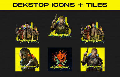 Cyberpunk 2077 - High Quality Icons and Tiles