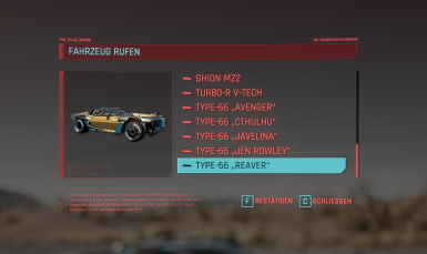 New car in own list