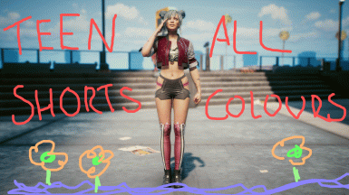 Teen Shorts - All colours