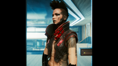 Long Punk Leather and Red