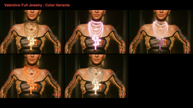 Valentino Full Jewelry - Color Variants
