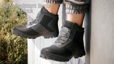 (Request) Custom - Black Heat Resistant Boots (Works with Fem V)