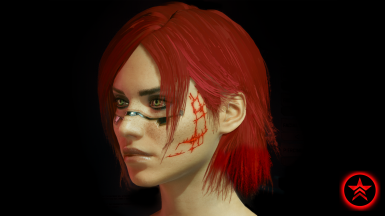 Commander Shepard's Renegade Scars (Face Tattoo)