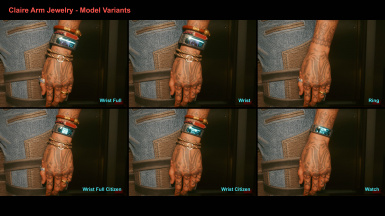 Claire Arm Jewelry - Model Variants