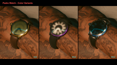 Padre Watch - Color Variants