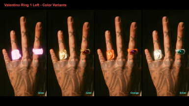 Valentino Ring 1 Left - Color Variants