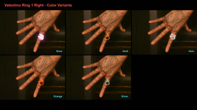 Valentino Ring 1 Right - Color Variants