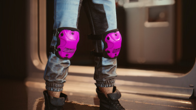 Knee pads in: green pink