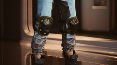 Knee pads in: militech
