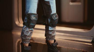 Knee pads in: wraith paint
