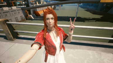 Aerith Swap for V - Clothes - Hair