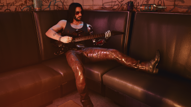 Pose: couch guitar