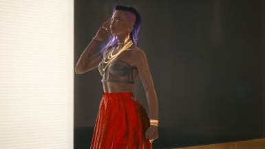 Shown: Cage Bra in Leather, Midi Skirt in Red Hex
