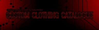Clothing Set and Recolor Catalogue