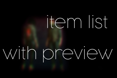 Item list with preview