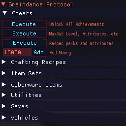 Braindance Protocol - A Utilities and Cheats GUI