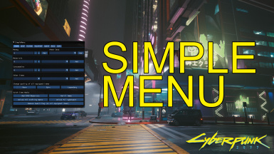 SimpleMenu - An In-Game UI including Hotkeys