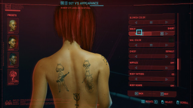 Moxes Female Body Tattoos