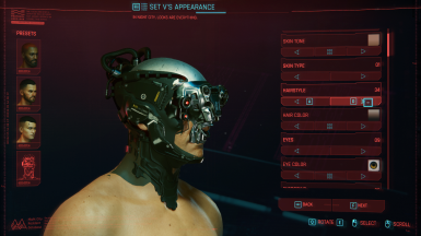 Male V Hair and Cybernetics _almico_