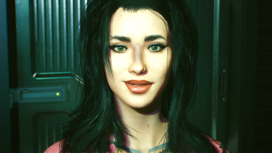 Judy's complexion with makeup, love love love!! Finally my V looks as I envisioned! Nova mod! <3