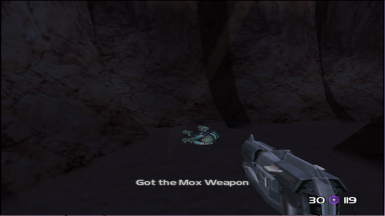 Picking Up the Mox Weapon in Planet X