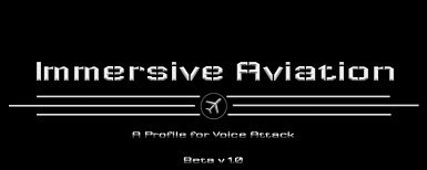 Immersive Aviation - Voice Attack Profile for MSFS 2020
