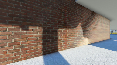 I finally worked out how to make a textured brick wall using a simple plane geometry= Very optimised