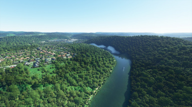 Water elevation fix for the well-known Saar Bow (Saarschleife) of the river Saar in south west Germany