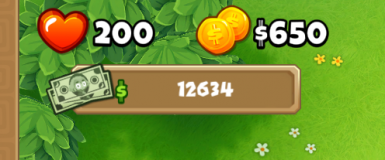 In-Game Monkey Money Display