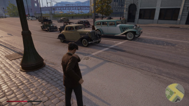 Realistic traffic variety and all vehicles storable in garage