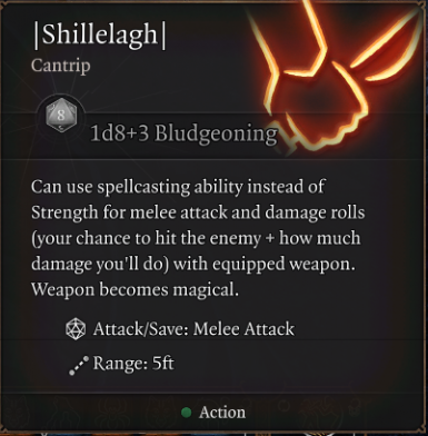 Functional Shillelagh Cantrip