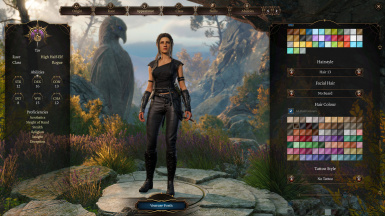 Two new black outfits for human and elf girls