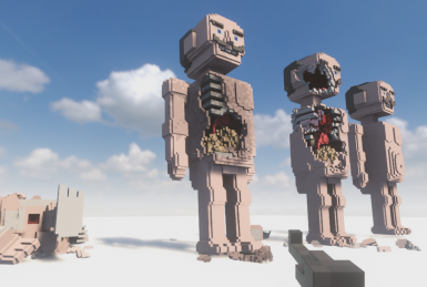 Giant ragdoll humans with sekelton and organs under the skins multiple layered person