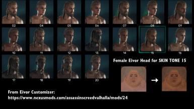 female's head difuse map to use with skin tone 15.