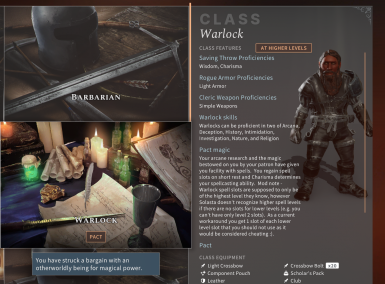 Warlock class alpha - 2nd subclass added - And Pact touched Wizard subclass