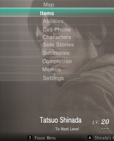 Yakuza 5 PS3 UI Restoration