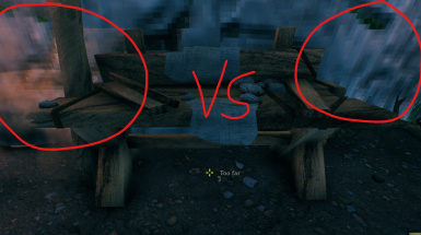 With and Without (Trust me it's apparent in-game)